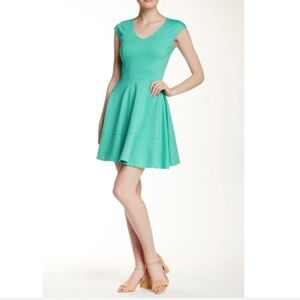 NWT Love...Ady V Neck Fit and Flare Dress